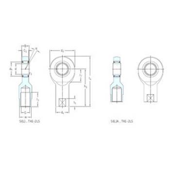 roulements SIA45TXE-2LS SKF