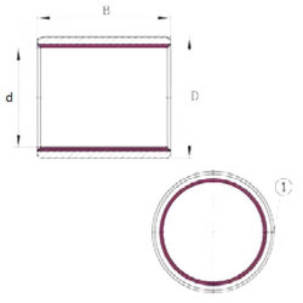 roulements EGB1525-E40-B INA #1 image